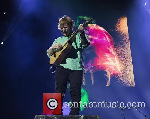 Ed Sheeran performing on his 'X tour'