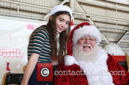 Rowan Blanchard and Santa Claus 10