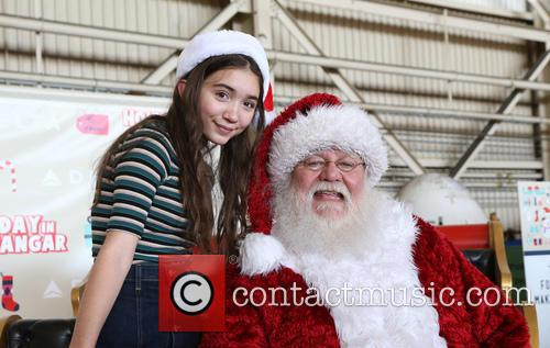 Rowan Blanchard and Santa Claus 11