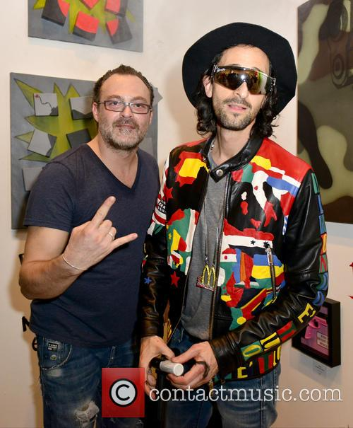 Adrien Brody takes part in Domingo Zapata's art...
