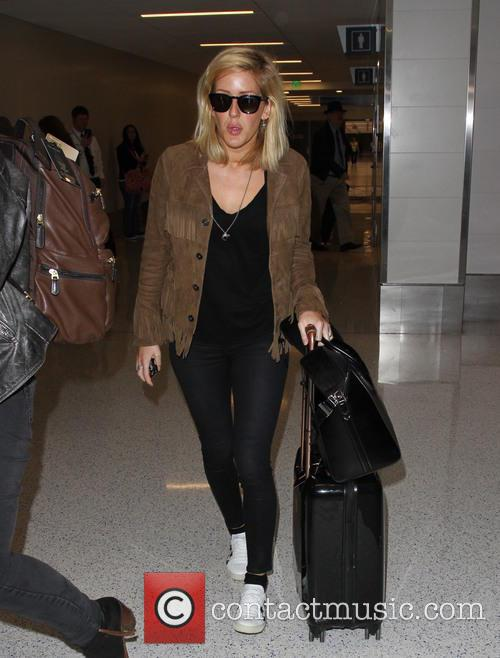 Ellie Goulding arrives at LAX