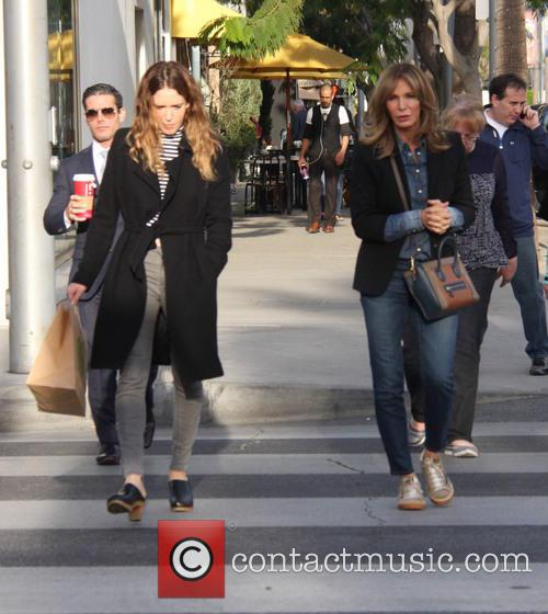 Jaclyn Smith out shopping wih her daughter