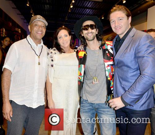 Russell Simmons, Camilla Olsson, Adrien Brody and Phillippe Hoerle-guggenheim 1