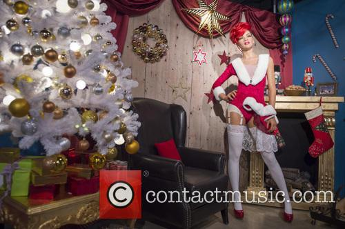 Rihanna wax figure for a christmas special at...