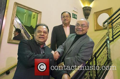 Musical group Los Panchos attend a photocall