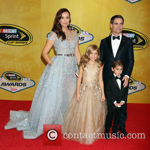 Jeff Gordon, Ingrid Vandebosch, Ella Gordon and Leo Gordon 1
