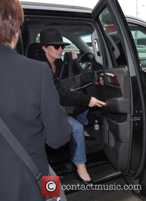 Sharon Osbourne arrives at Los Angeles International Airport...