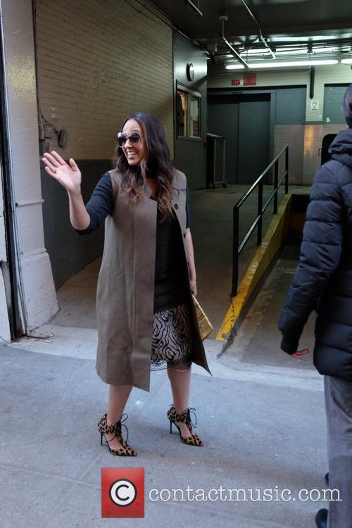 Tia Mowry spotted leaving The Huffington Post
