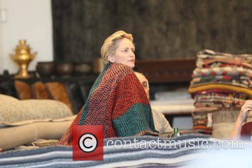 Sharon Stone goes rug shopping at Hamilton Oriental...