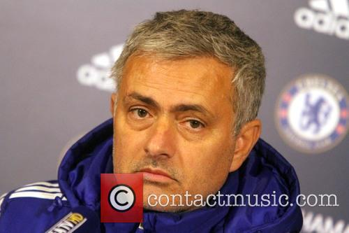 Jose Mourinho attends a Chelsea F.C press conference