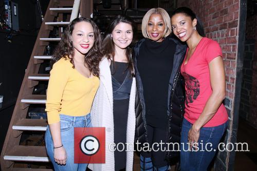 Jasmine Cephas Jones, Phillipa Soo, Mary J. Blige and Renee Elise Goldsberry 1