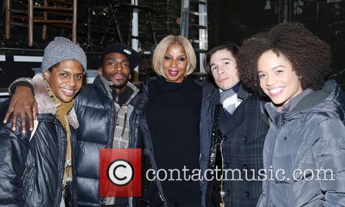 Ephraim Sykes, Daniel J. Watts, Mary J. Blige, Jon Rua and Sasha Hutchings 1