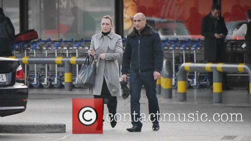 Arthur Abraham is seen arriving at Tegel with...