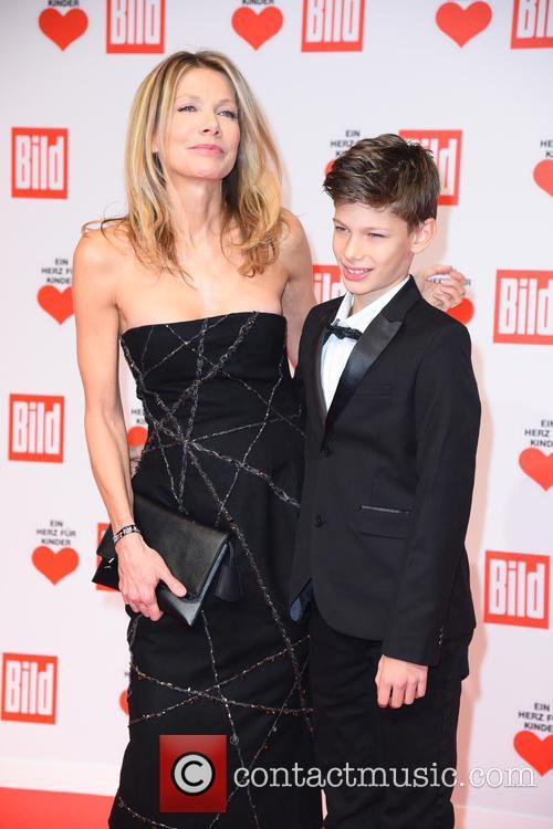 Ursula Karven and Son Liam