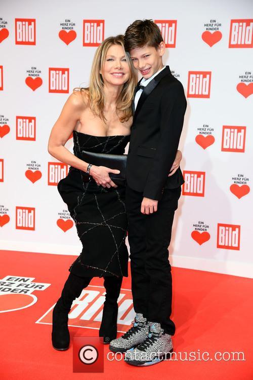 Ursula Karven and Son Liam 4