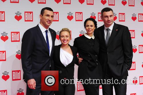 Hayden Panettieri, Wladimir Klitschko, Natalie Klitschko and Vitali Klitschko