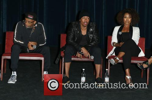 Spike Lee, Nick Cannon and Angela Bassett