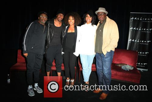 Spike Lee, Nick Cannon, Angela Bassett, Teyonah Parris and Steve Harris 9