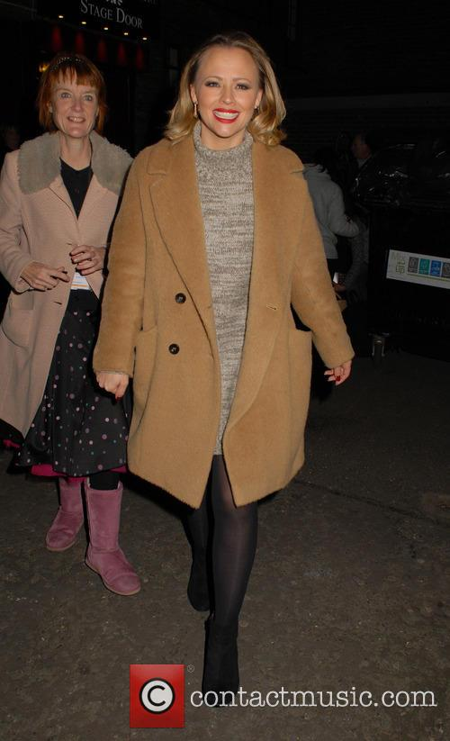 Kimberley Walsh leaves the Dominion Theatre
