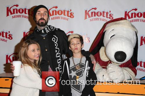 Alabama Luella Barker, Travis Barker and Landon Asher Barker 7