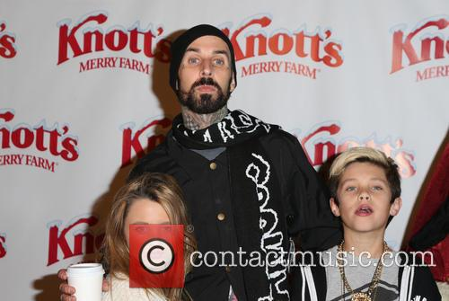 Alabama Luella Barker, Travis Barker and Landon Asher Barker 8