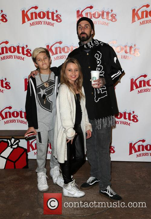 Alabama Luella Barker, Travis Barker and Landon Asher Barker 11
