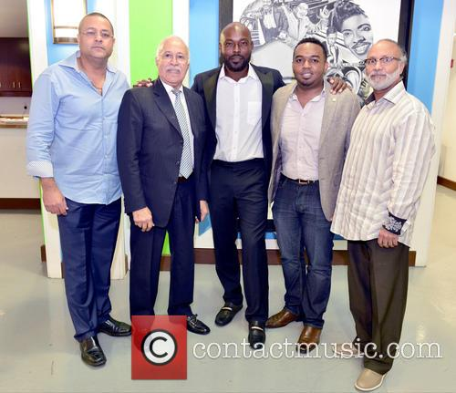 Guest, Edourd Valme, Minister Robert Labrousse, Jimmy Jean-louis, Stephane Gilles and Fred Seraphin 2