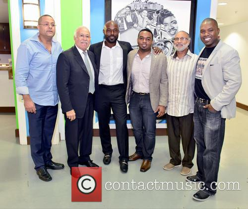 Guest, Edourd Valme, Minister Robert Labrousse, Jimmy Jean-louis, Stephane Gilles, Fred Seraphin and Herbert Jean 3