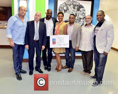 Guest, Edourd Valme, Minister Robert Labrousse, Jimmy Jean-louis, Stephane Gilles, Fred Seraphin and Herbert Jean 4