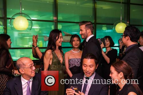 David Beckham and Michelle Yeoh