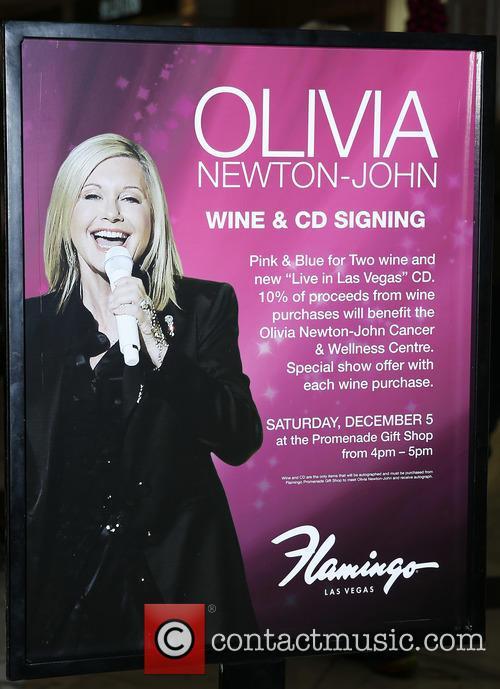 Olivia Newton John wine and CD signing