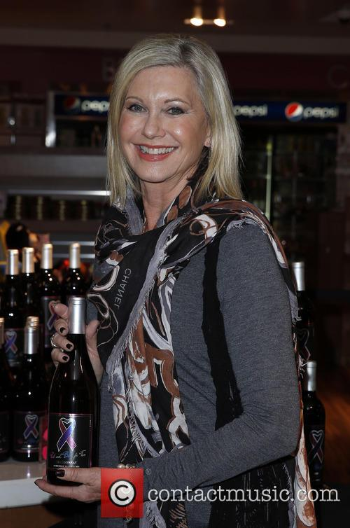 Olivia Newton John wine and CD signing
