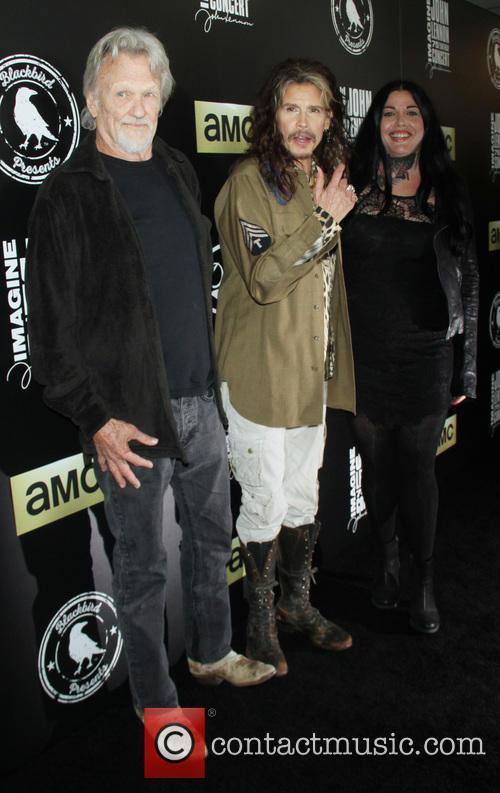 Kris Kristofferson, Steven Tyler and Mia Tyler 4