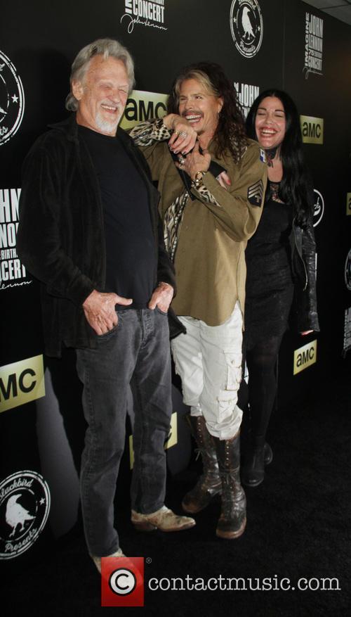 Kris Kristofferson, Steven Tyler and Mia Tyler 8