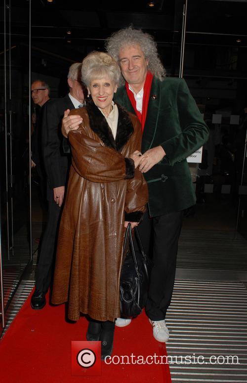 Anita Dobson and Brian May 1