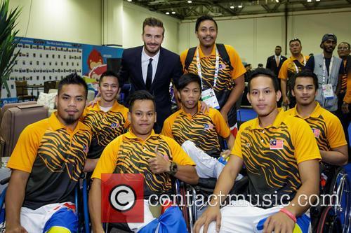 David Beckham and Malaysian Athletes 1