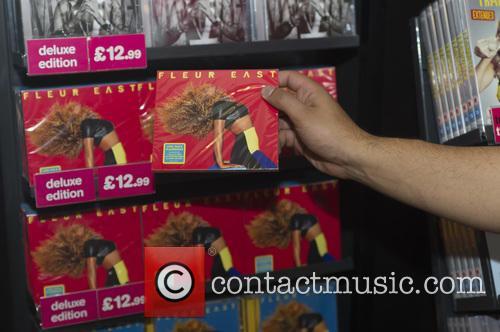 Fleur East at HMV Birmingham meeting fans and...