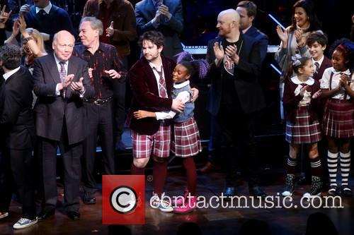 Julian Fellowes, Sierra Boggess, Andrew Lloyd Webber, Alex Brightman and Cast 1