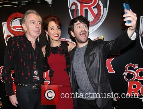 Andrew Lloyd Webber, Sierra Boggess and Alex Brightman 3