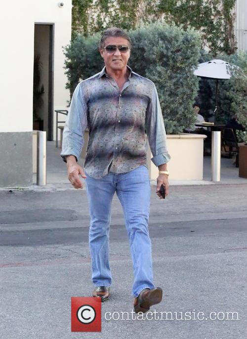 Sylvester Stallone at Cafe Roma