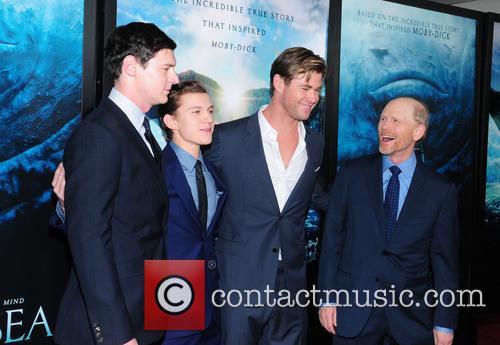 Tom Holland, Benjamin Walker, Chris Hemsworth and Ron Howard 6