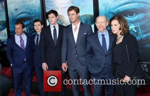 Benjamin Walker, Tom Holland, Chris Hemsworth and Ron Howard 2