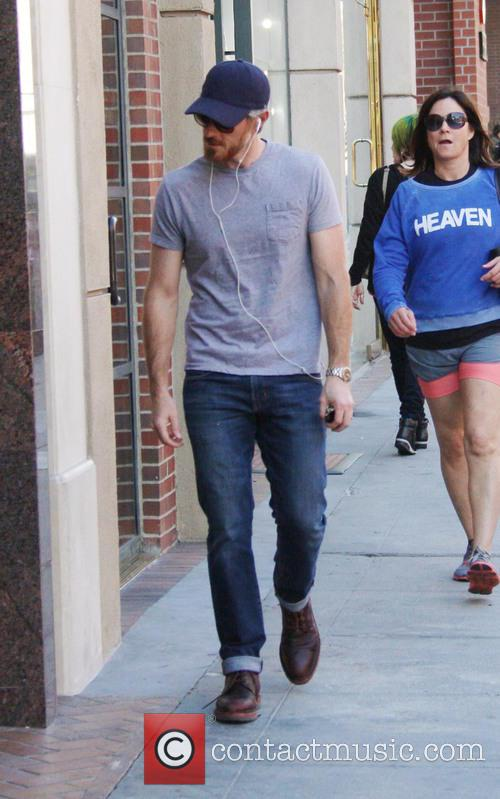 Actor Dave Annable out and about in Beverly...