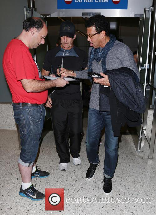 Lionel Richie arrives at Los Angeles International Airport...
