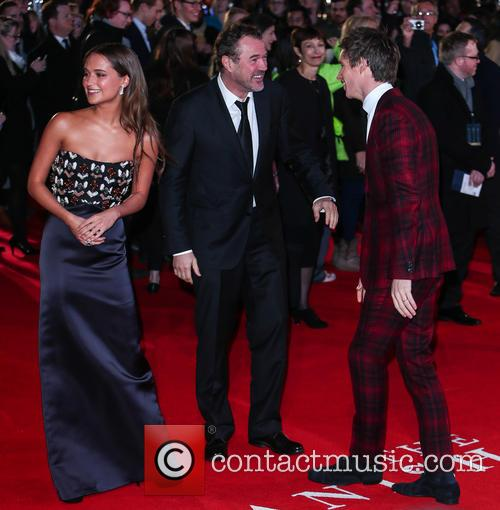 Sebastian Koch, Eddie Redmayne and Alicia Vikander 3