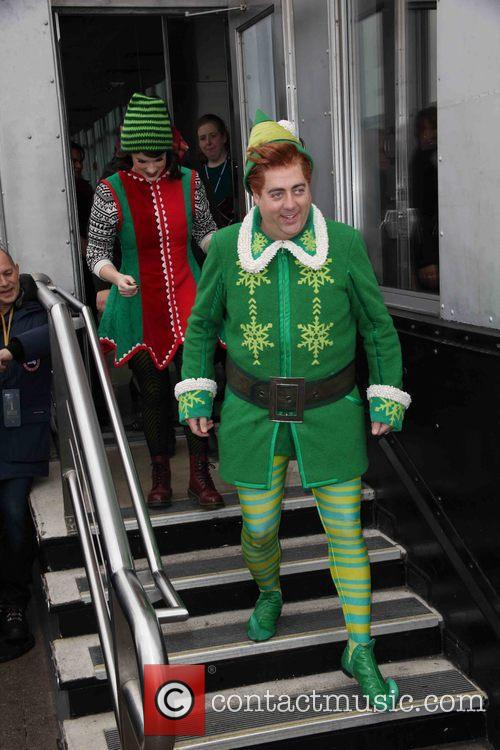 Buddy The Elf at the Empire State Building