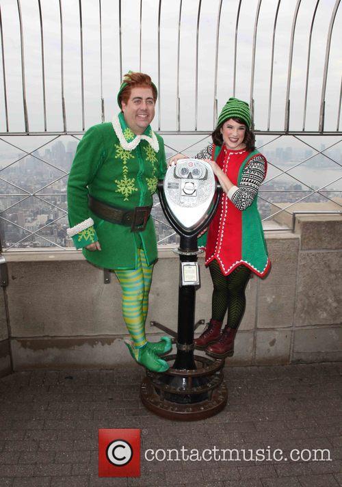 Eric Petersen, Buddy The Elf, Veronica Kuehn and Jovie 2
