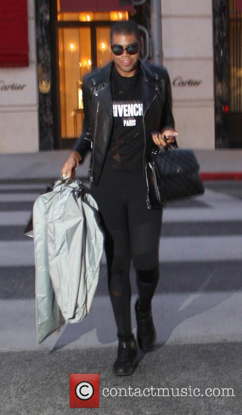 EJ Johnson out shopping in Beverly Hills
