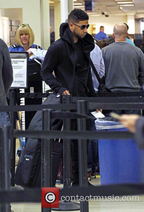 Jussie Smollett departs on a flight from Los...