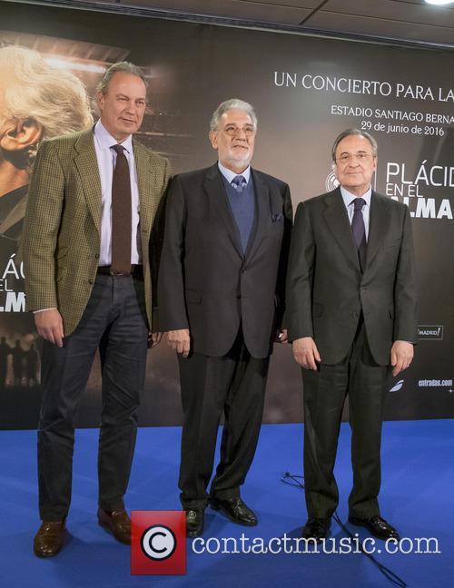 Placido Domingo, Bertin Osborne and Florentino Perez 5